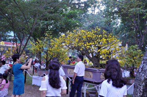 Hàng ngàn người xúng xính áo mới du xuân ở Sài Gòn - 15