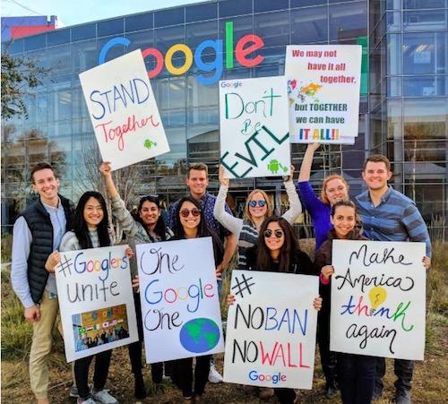 2.000 nhân viên Google xuống đường phản đối lệnh cấm nhập cư mới - 2