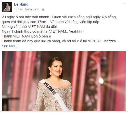 Lệ Hằng vẫn ''tự thưởng'' dù trắng tay tại Miss Universe - 6
