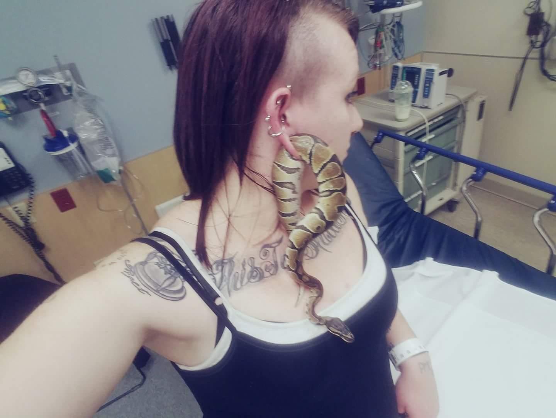 Chưa từng thấy: Rắn chui vào lỗ xỏ khuyên tai người phụ nữ - 1