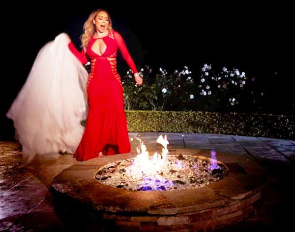 Bị tỉ phú hủy hôn, diva đốt váy cưới 5,6 tỉ đồng - 1
