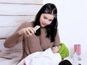 Kỳ Hân lần đầu tung clip khoe mặt con trai sau 3 tháng sinh