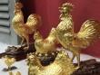 Vàng miếng in hình gà đắt hàng ngày vía Thần Tài