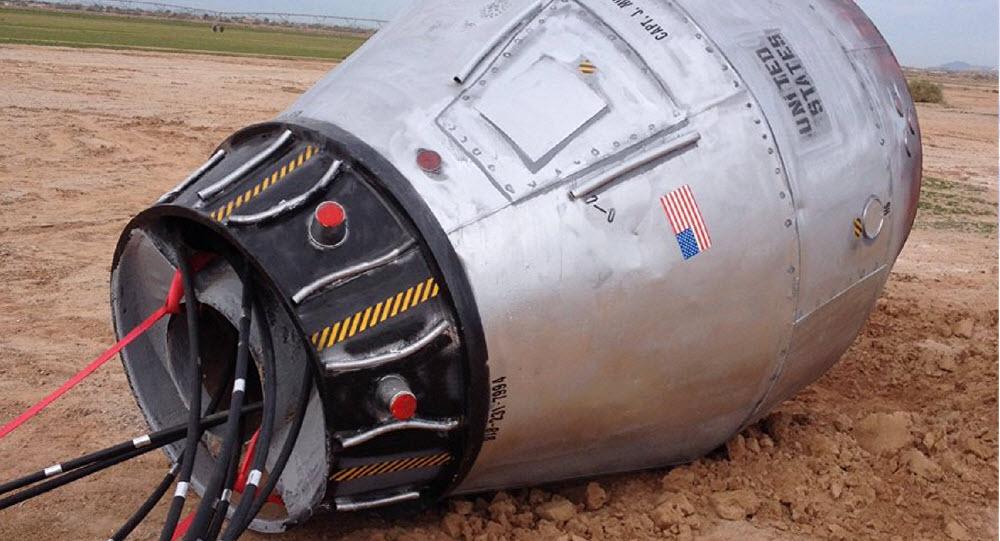 """""""Tàu vũ trụ"""" rơi gần đường cao tốc ở Mỹ? - 1"""