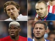 Tiền vệ số 1 thế giới: Pogba mất hút, Iniesta xếp đầu