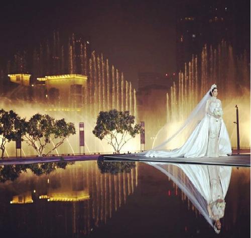 """Cận cảnh váy cưới """"khủng"""" đính 24.000 mảnh kim cương - 6"""