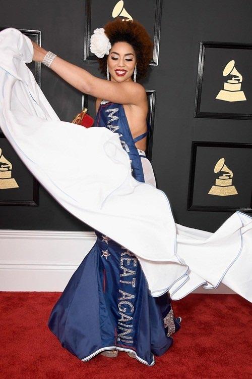 Bất ngờ với bộ váy độc đáo nhất Grammy 2017 - 2