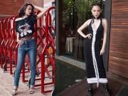 Hoàng Thùy Linh mặc style lạ, lăng xê mốt quần lưới hở eo
