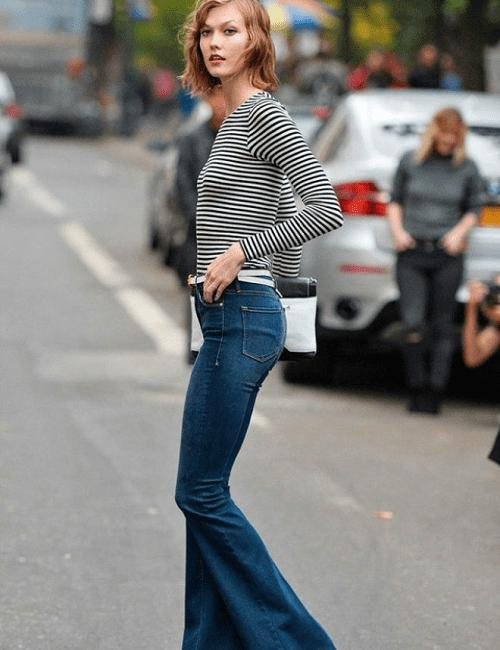 Cuộc cách tân đáng nể của jean ống loe và jean rách rưới - 7