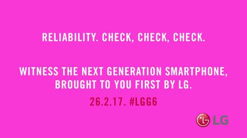 LG tung ảnh G6, ra mắt ngày 26/2 - 1