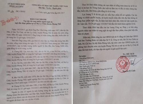 Một lãnh đạo xã tử vong trong vụ nghi ngộ độc thực phẩm ở Lai Châu - 2