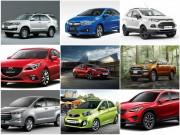 Tin tức ô tô - 10 mẫu xe bán chạy nhất Việt Nam tháng 1/2017