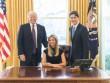 Ivanka là phụ nữ đầu tiên ngồi lên ghế tổng thống Mỹ