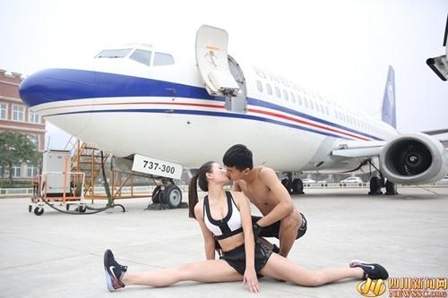 Bộ ảnh 7 kiểu hôn độc đáo của đôi uyên ương TQ - 1