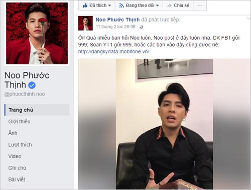 """Fan thích thú với màn Livestream """"triệu like"""" của Noo Phước Thịnh - 1"""