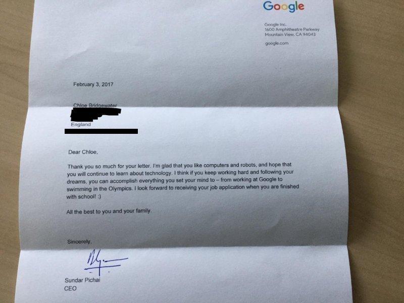 Cô bé 7 tuổi viết thư tay xin việc ở Google và cái kết bất ngờ - 2