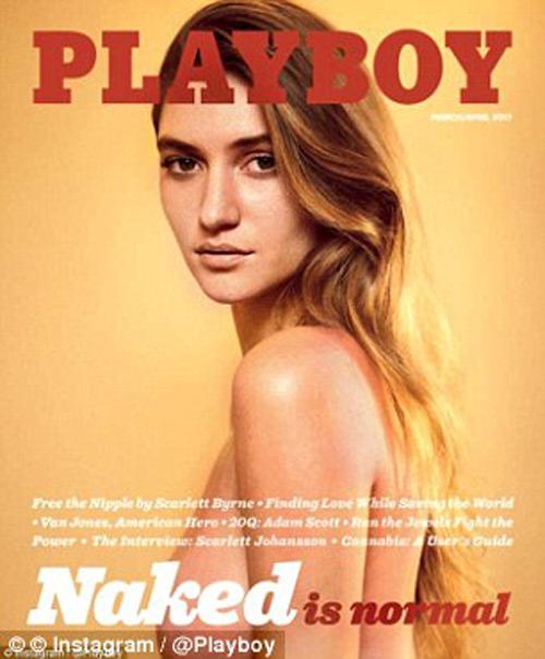 """Mỹ nữ """"Harry Potter"""" táo bạo trên tạp chí người lớn Playboy - 1"""
