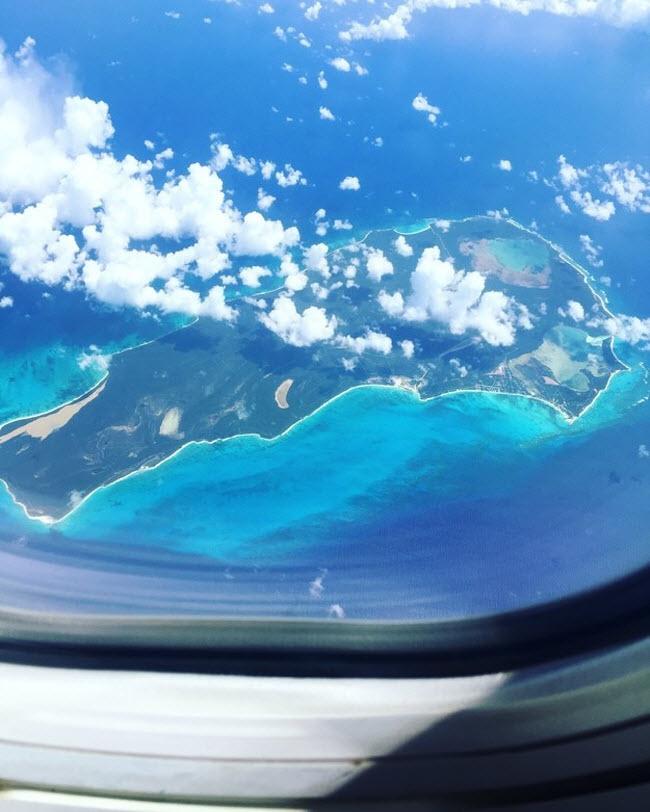 Bức ảnh quần đảo Caribbe được một du khách chụp từ trên máy bay trong hành trình tới Puerto Rico.