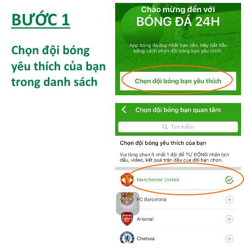 HOT: Hướng dẫn cài đặt ứng dụng bóng đá 24H - 3