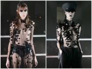 Dàn mẫu để ngực trần, trình diễn thời trang siêu thực