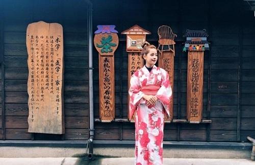HH Mỹ Linh, Hari Won diện kimono đẹp tựa gái Nhật - 5