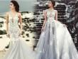 Hot girl 9X gây chú ý với đầm cưới đính 5000 hạt pha lê