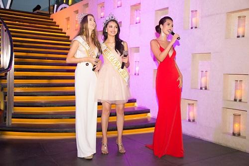 """Hà Anh """"rực lửa"""" lấn át cả Hoa hậu Toàn cầu 2016 - 5"""