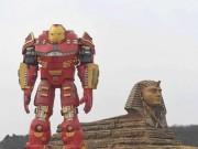 Du lịch - Chết cười với tượng Iron Man phiên bản cổ rụt ở TQ