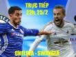 TRỰC TIẾP bóng đá Chelsea - Swansea: Fabregas mang tin vui