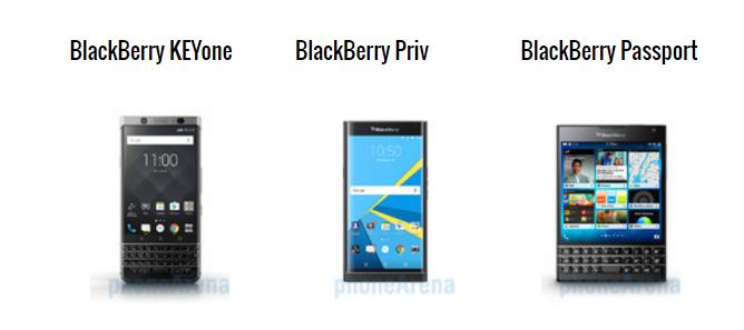 """BlackBerry KeyOne đọ thông số với """"đàn anh"""" Priv và Passport - 1"""