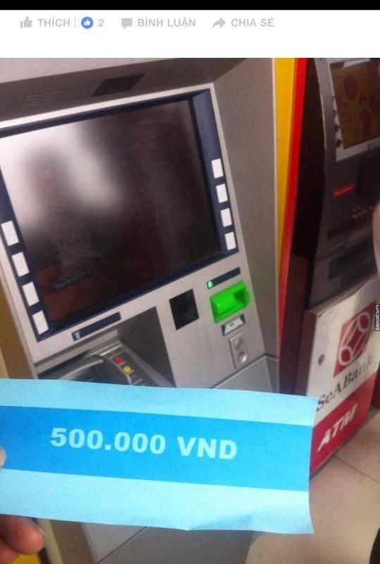 Ngân hàng lên tiếng vụ ATM nhả tờ giấy in chữ 500 nghìn đồng - 1