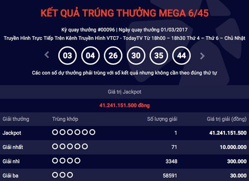 Vietlott lại tìm được tỉ phú với giải jackpot hơn 41 tỉ đồng - 1