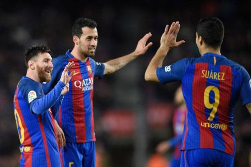 Barcelona – Gijon: Messi, Neymar thêu hoa dệt gấm - 1