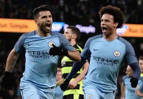"""Man City đại thắng, Guardiola """"phát cuồng"""" vì Aguero - 1"""