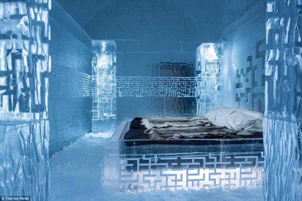 Lạnh tê tái trong khách sạn băng giá ở Thụy Điển - 1