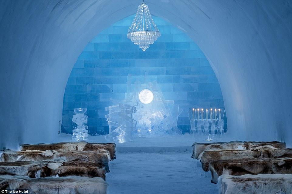 Lạnh tê tái trong khách sạn băng giá ở Thụy Điển - 5