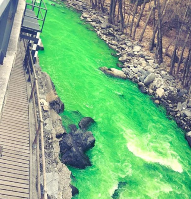 Hoang mang vì sông chuyển màu xanh bí ẩn ở Tây Ban Nha - 1