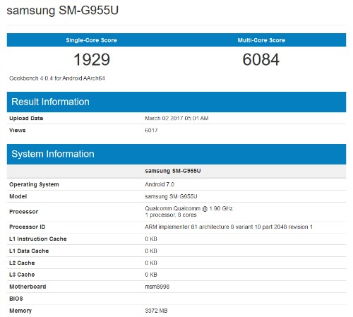NÓNG: Lộ video Samsung Galaxy S8 và điểm hiệu năng trên Geekbench - 3