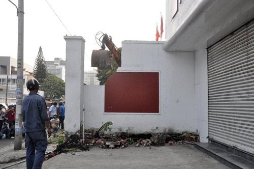Clip: Ông Đoàn Ngọc Hải chỉ đạo phá tường gần tòa nhà Bộ Công thương - 2