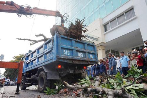 Clip: Ông Đoàn Ngọc Hải chỉ đạo phá tường gần tòa nhà Bộ Công thương - 7