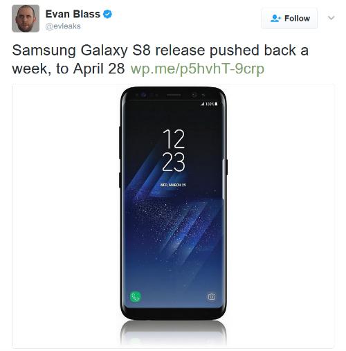 """Samsung Galaxy S8 sẽ """"lên kệ"""" muộn hơn 1 tuần so với dự kiến - 1"""