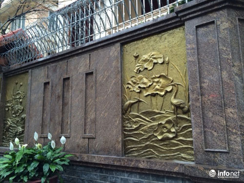 Chiêm ngưỡng cổng biệt thự, tường rào cầu kỳ của các đại gia HN - 10