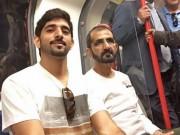 Thế giới - Quốc vương Ả Rập mặc áo thun đi tàu điện ngầm Anh