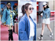 Dương Mịch ăn gian tuổi với loạt áo khoác denim