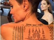 Làm đẹp - Angelina Jolie xăm hình lạ giữ hôn nhân vẫn mất chồng