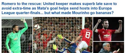 """MU-Mourinho """"trùm"""" cúp châu Âu, Fellaini đá như Ro """"vẩu"""" - 1"""