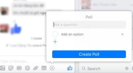Cách tạo khảo sát trong nhóm chat Facebook Messenger - 1