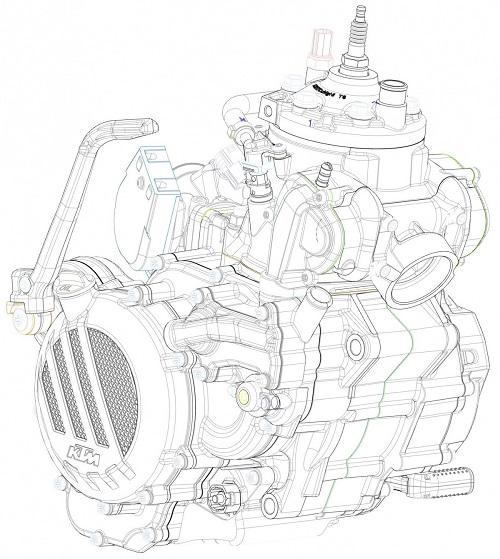KTM trình làng động cơ hai thì phun xăng điện tử mới - 1
