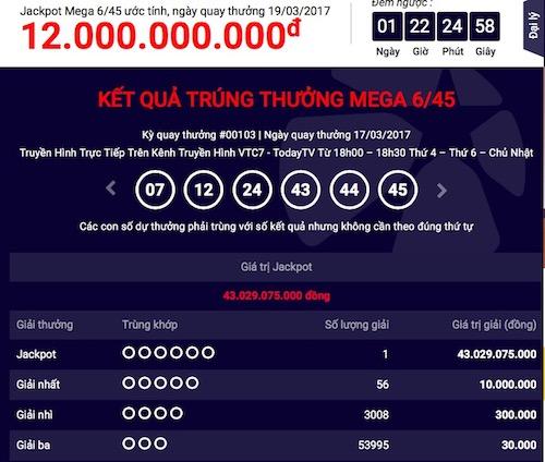 """Xổ số Vietlott: Tìm thấy giải jackpot """"khủng"""" thứ 18 - 1"""