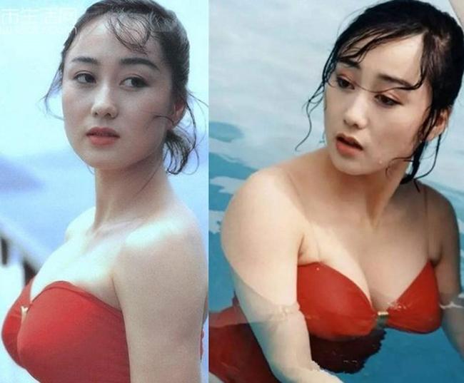 Hoa hậu Lợi Trí - vợ của tài tử Lý Liên Kiệt - từng gây sốc với loạt ảnh bikini mỏng manh.